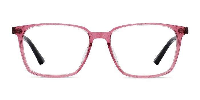 Juliana Glitter Pink   Black Acétate Montures de Lunette de vue d'EyeBuyDirect