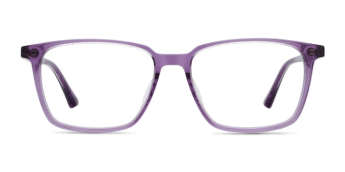 Juliana Glitter Purple Acétate Montures de Lunette de vue d'EyeBuyDirect
