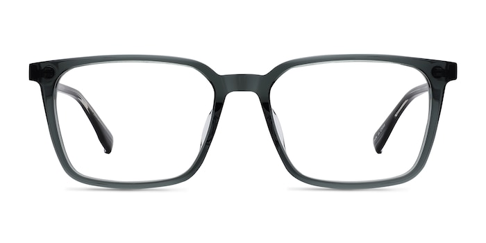 Basic Clear Gray   Black Acetate Eyeglass Frames from EyeBuyDirect