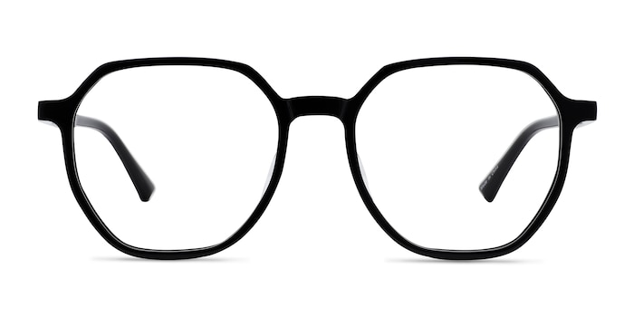 Tiki Black Acetate Eyeglass Frames from EyeBuyDirect