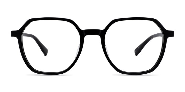 Oscar Noir Acétate Montures de Lunette de vue d'EyeBuyDirect