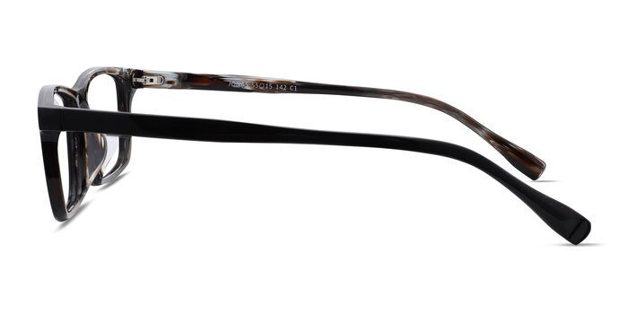 Jonas Black Striped Acetate Eyeglass Frames from EyeBuyDirect