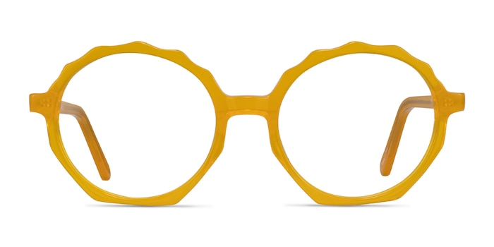 Anemone Clear Yellow Acetate Eyeglass Frames from EyeBuyDirect