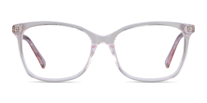 Michelle Clear Pink Acetate Eyeglass Frames from EyeBuyDirect