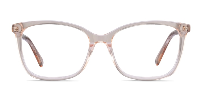 Michelle Clear Brown Acetate Eyeglass Frames from EyeBuyDirect