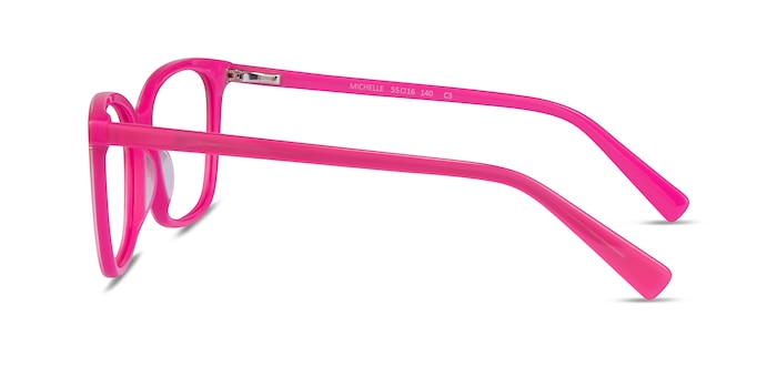 Michelle Pink Acetate Eyeglass Frames from EyeBuyDirect