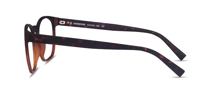 Oakwood Matte Tortoise Brown Plastic Eyeglass Frames from EyeBuyDirect