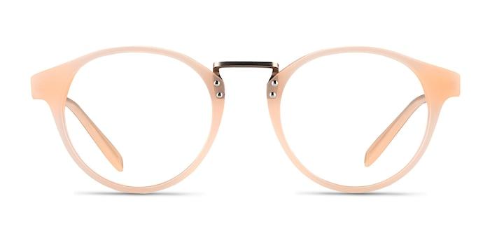 Get Lucky Ivory/Silver Acetate-metal Montures de lunettes de vue d'EyeBuyDirect