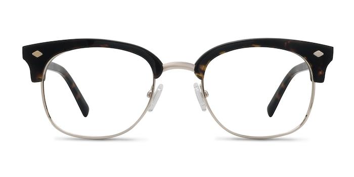 Japan Morning  Dark Tortoise  Acetate-metal Eyeglass Frames from EyeBuyDirect