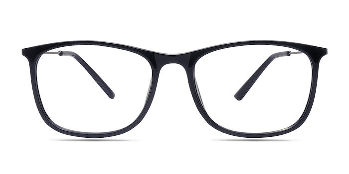 Hurricane Black Plastic Eyeglass Frames from EyeBuyDirect
