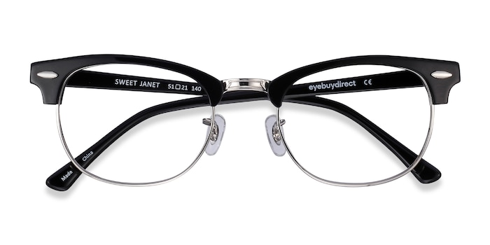Black Silver Sweet Janet -  Fashion Metal Eyeglasses
