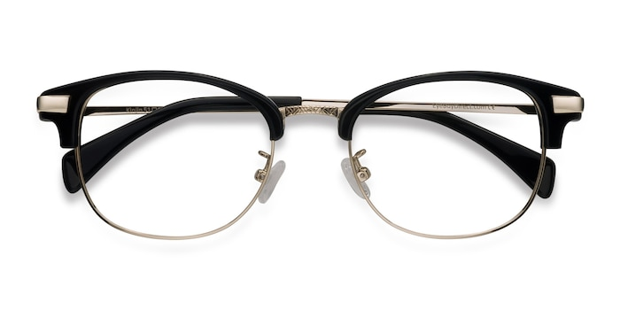 Black Kinjin -  Vintage Acetate, Metal Eyeglasses