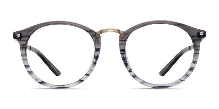 La Femme Gray Striped Acetate-metal Eyeglass Frames from EyeBuyDirect