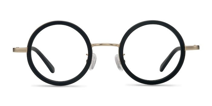 Roaring Black Acetate-metal Eyeglass Frames from EyeBuyDirect