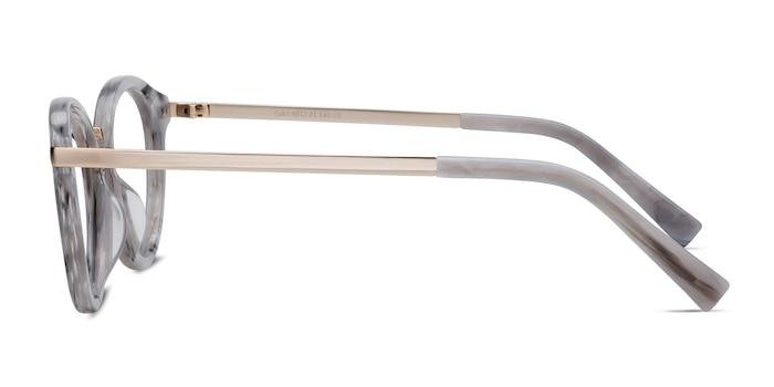 Yuke Light Gray Acetate-metal Montures de Lunette de vue d'EyeBuyDirect
