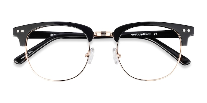 Black Borderline -  Designer Metal Eyeglasses