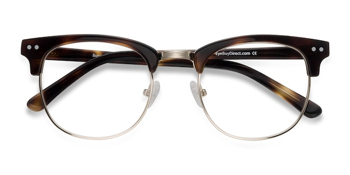 Tortoise Borderline -  Designer Metal Eyeglasses