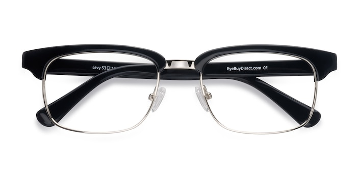 Black Levy -  Vintage Acetate Eyeglasses