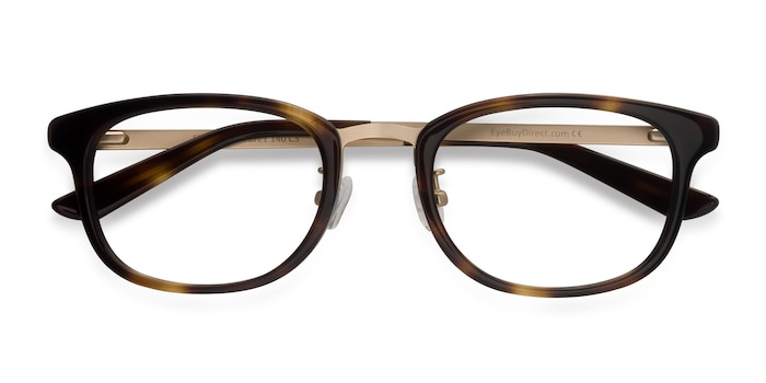 Tortoise First Light -  Designer Metal Eyeglasses