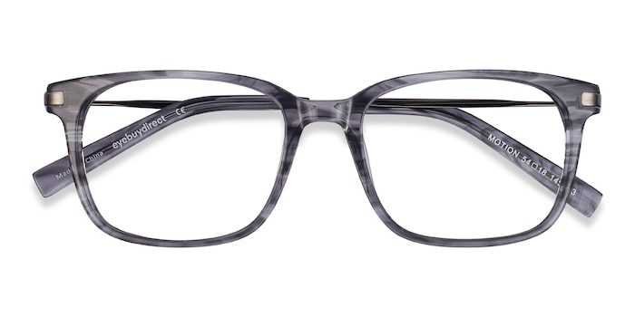Gray Striped Motion -  Acetate Eyeglasses