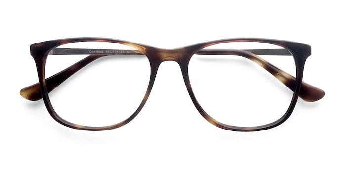 Tortoise Contrast -  Fashion Metal Eyeglasses