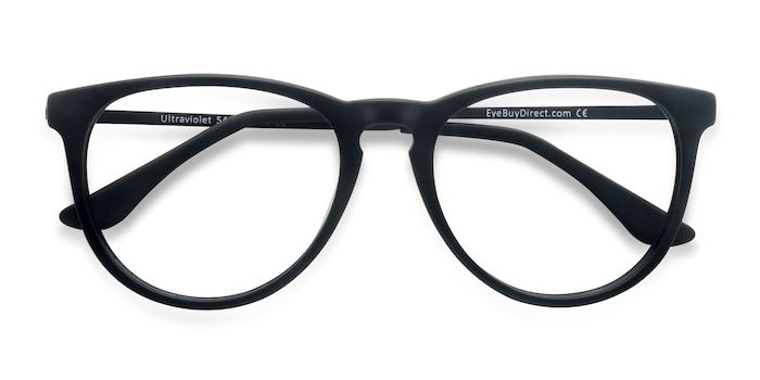 Matte Black Ultraviolet -  Acetate, Metal Eyeglasses