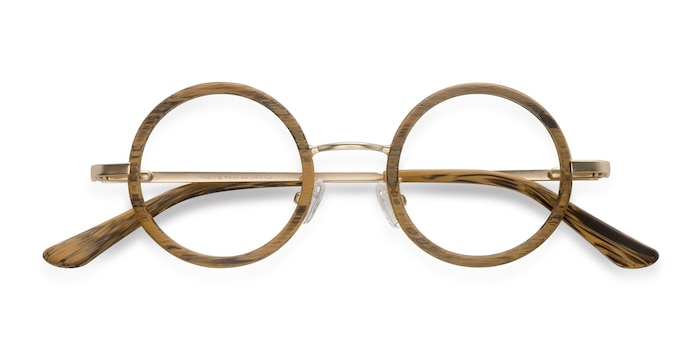 Brown Roaring -  Designer Metal Eyeglasses