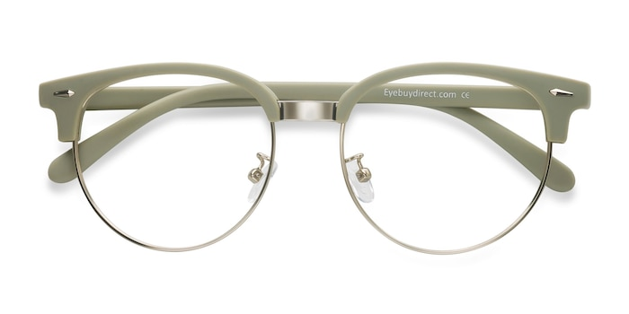 Light Green Narita -  Vintage Metal Eyeglasses