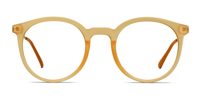 Grin Matte Yellow Plastic-metal Eyeglass Frames from EyeBuyDirect
