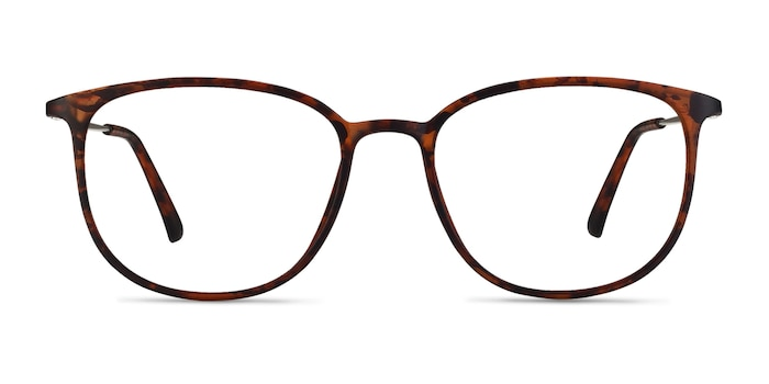 Strike Matte Tortoise Plastic-metal Eyeglass Frames from EyeBuyDirect