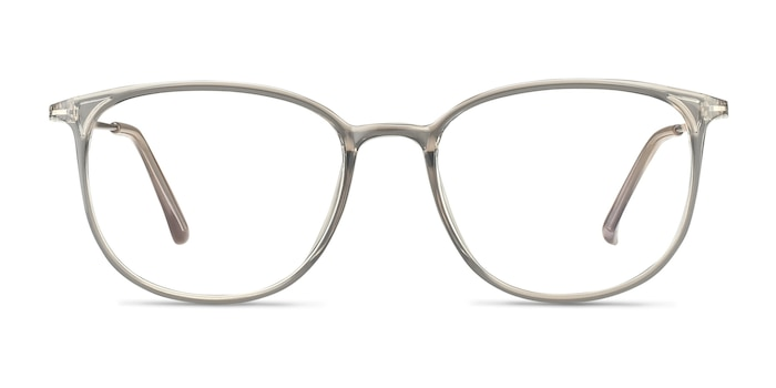 Strike Clear Gray Plastic-metal Montures de Lunette de vue d'EyeBuyDirect