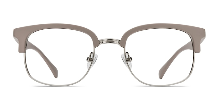 Yokote Gray Plastic-metal Eyeglass Frames from EyeBuyDirect
