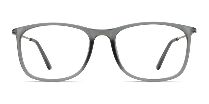Hurricane Matte Gray Plastic-metal Eyeglass Frames from EyeBuyDirect