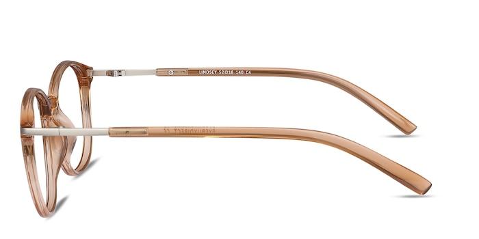 Lindsey Clear Orange Plastic-metal Eyeglass Frames from EyeBuyDirect