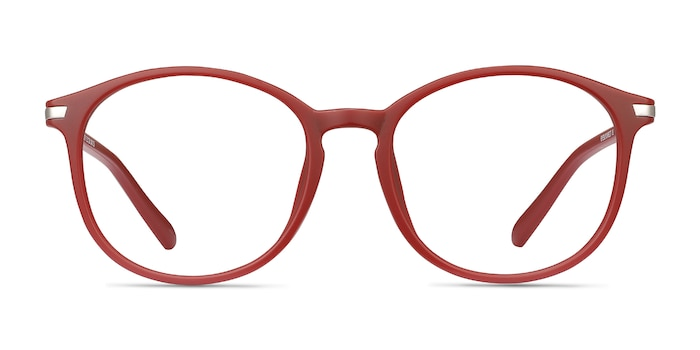 Lindsey Burgundy Plastic-metal Eyeglass Frames from EyeBuyDirect