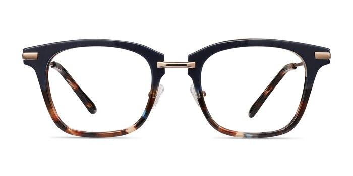 Candela Blue Floral Acetate-metal Eyeglass Frames from EyeBuyDirect