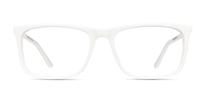 Instance White Acetate-metal Eyeglass Frames from EyeBuyDirect