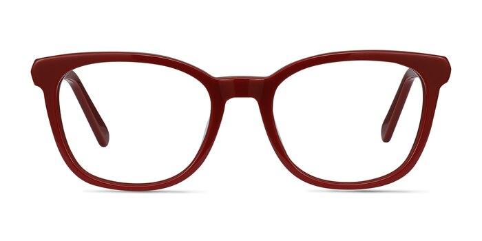 Kat Burgundy Acetate-metal Eyeglass Frames from EyeBuyDirect