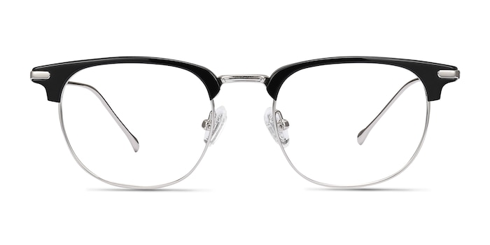 Relive Black Silver Acetate-metal Eyeglass Frames from EyeBuyDirect