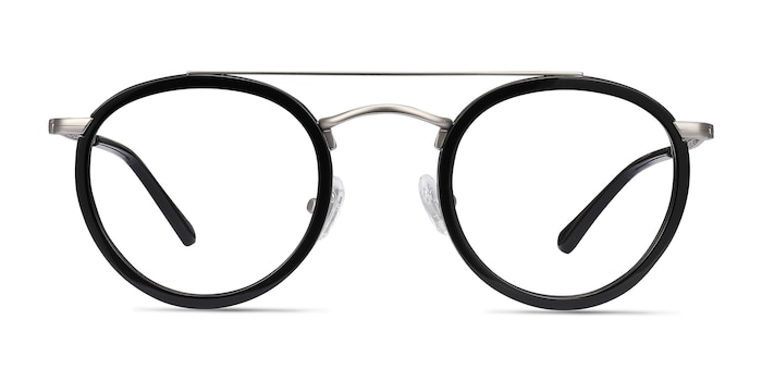 Architect Black Silver Acetate-metal Eyeglass Frames from EyeBuyDirect