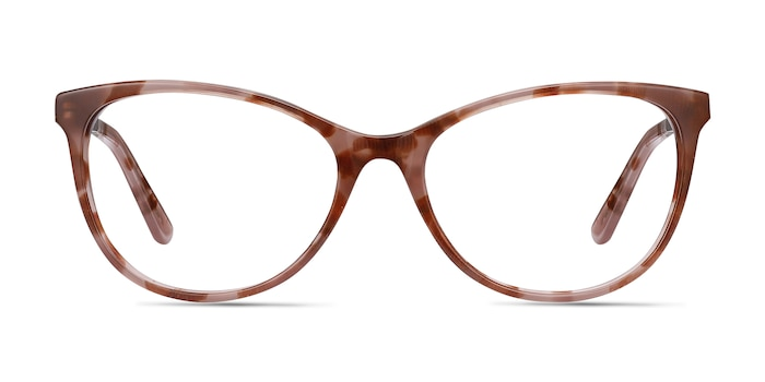 Cat's Meow Brown Floral Acetate-metal Montures de Lunette de vue d'EyeBuyDirect