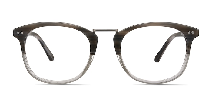 Era Gray Striped Acetate-metal Eyeglass Frames from EyeBuyDirect