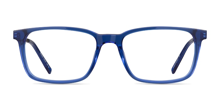 Stanza Blue Acetate Eyeglass Frames from EyeBuyDirect
