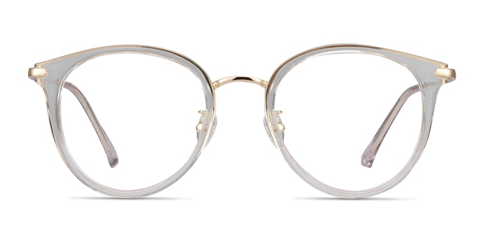 Hollie Transparent Plastic-metal Montures de Lunette de vue d'EyeBuyDirect