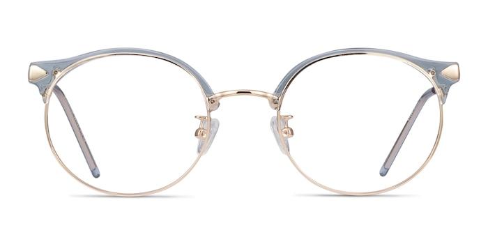 Moon River Clear Blue Plastic-metal Eyeglass Frames from EyeBuyDirect