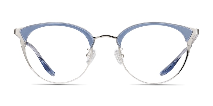 Bouquet Blue Silver Acetate-metal Eyeglass Frames from EyeBuyDirect