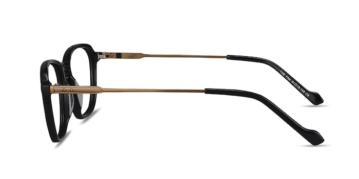 The Fan Black Acetate-metal Eyeglass Frames from EyeBuyDirect