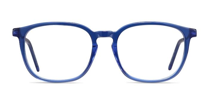 Esquire Blue Acetate-metal Eyeglass Frames from EyeBuyDirect