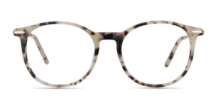Quill Ivory Tortoise Acetate-metal Eyeglass Frames from EyeBuyDirect