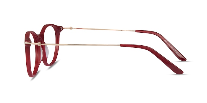 Quill Red Acetate-metal Eyeglass Frames from EyeBuyDirect